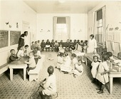 African American primary school classroom photo from Library Company of Philadelphia collection